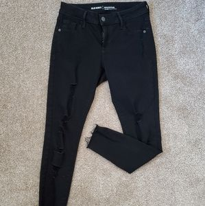 Old Navy Rockstar Mid Rise Distressed Skinny Jeans